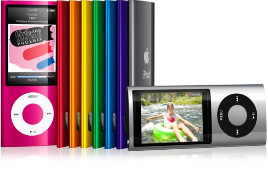 iPod Nano 5th Generation colours
