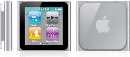 Apple iPod Nano Sixth Generation Multiple Views