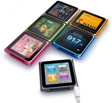 iPod Nano 6th Gen Player Colours